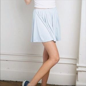 Brandy Melville Baby Blue Suede Riana Skirt